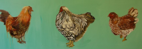 Chicken Painting Long #1