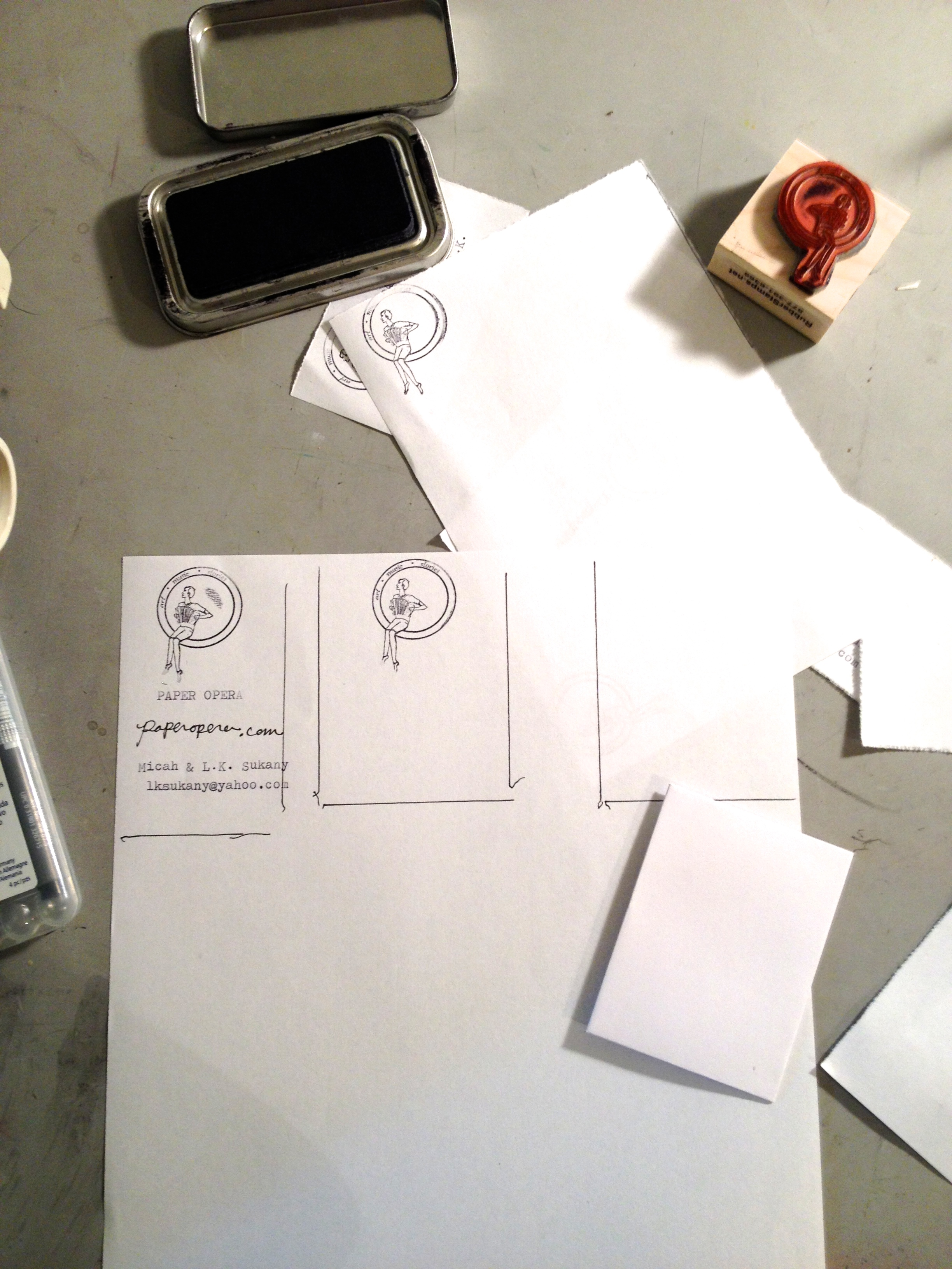 Paper Opera Business Cards