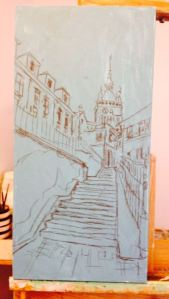 13. Sighisoara Clock Tower Sketch