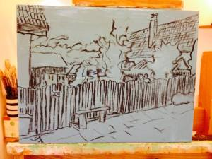 4. Shinkai House Sketch