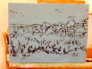 6. Romanian Corn Field Sketch