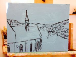 7. Sighisoara Church View Sketch