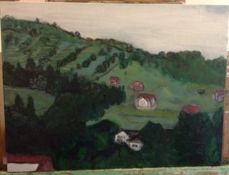 romania hillside view 2nd coat